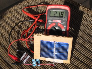Joule Thief w/0.5V solar cell