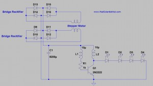 Joule Thief Stepper Motor Generator