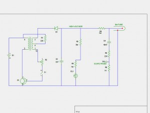 schematic for modifications to the power supply