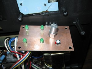 phono control panel and button