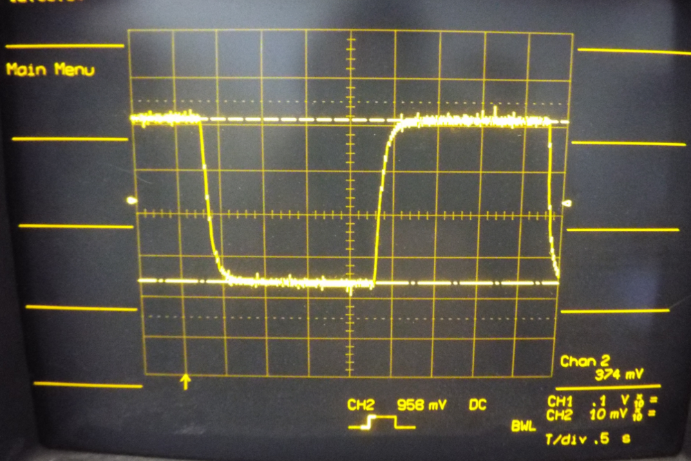 PWM Filter DC output switching between a setting of 10,000 and 15,000 every 2 seconds