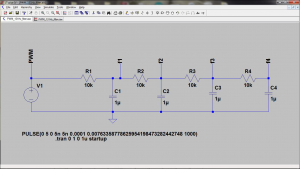 4th order RC filter for PWM signal